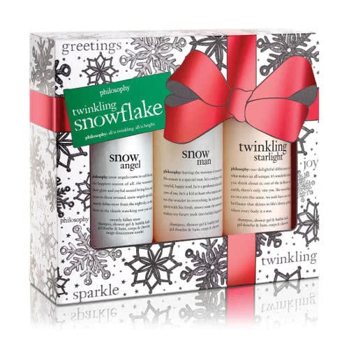 philosophy twinkling snowflakes set by philosophy