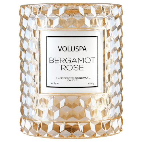 Voluspa Bergamot Rose Icon Cloche Candle by Voluspa