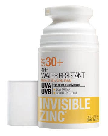 Invisible Zinc 4 Hour Water-Resistant Sunscreen SPF30+ by Invisible Zinc