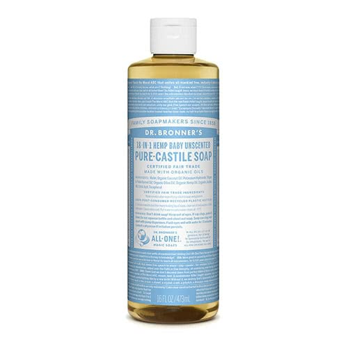 Dr. Bronner Castile Liquid Soap - Baby Mild 473ml by Dr. Bronner's