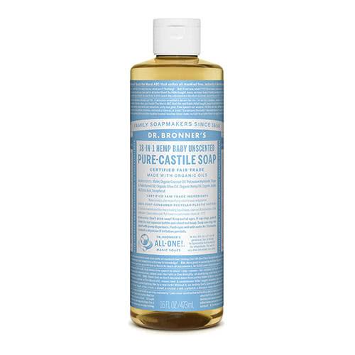 Dr. Bronner Castile Liquid Soap - Baby Mild 473ml
