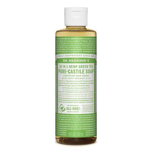 Dr. Bronner Castile Liquid Soap - Green Tea 237ml by Dr. Bronner's