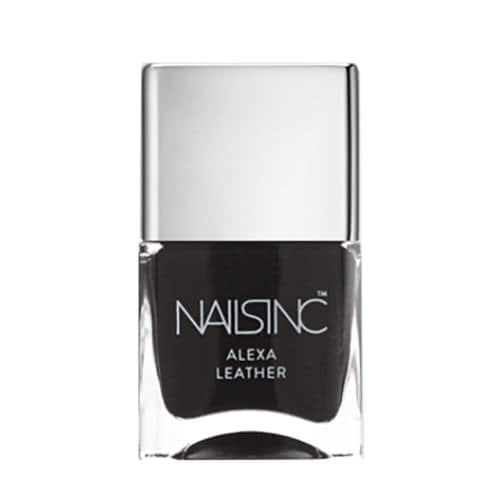 Nails Inc Alexa Fabric Polish - Black Leather by nails inc.