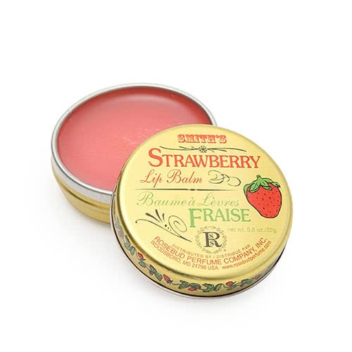 Smith's Rosebud Salve - Strawberry Lip Balm - Tin by Smith-s Rosebud Salve