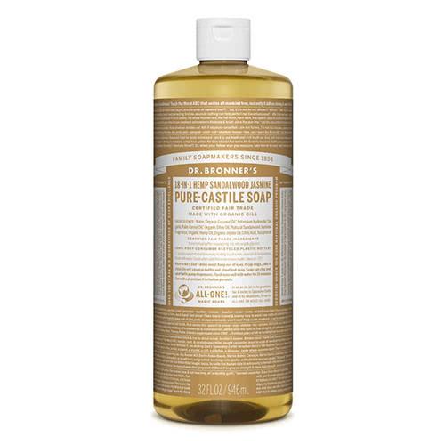 Dr. Bronner Castile Liquid Soap - Sandalwood & Jasmine 946ml by Dr Bronner-s