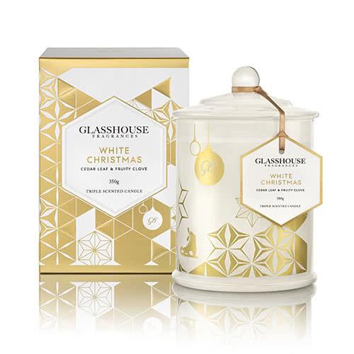 Glasshouse White Christmas Candle 350g by Glasshouse Fragrances