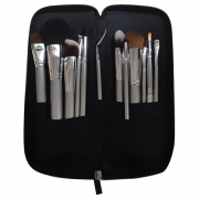 Kryolan Classic Beauty Set- Silver Handle Brush Set - 12 Piece