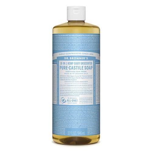 Dr. Bronner Castile Liquid Soap - Baby Mild 945ml by Dr. Bronner's