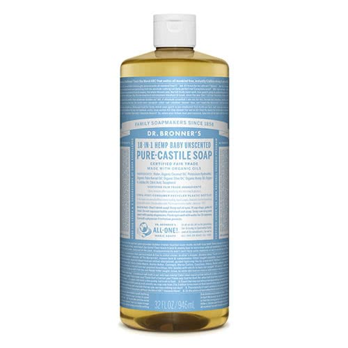 Dr. Bronner Castile Liquid Soap - Baby Mild 945ml by Dr. Bronner's