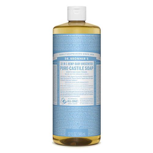 Dr. Bronner Castile Liquid Soap - Baby Mild 945ml