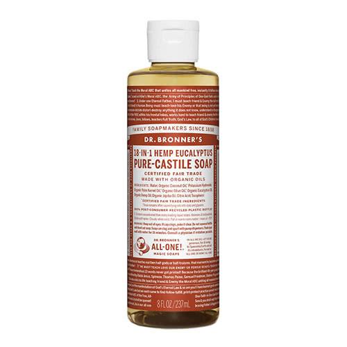 Dr. Bronner Castile Liquid Soap - Eucalyptus 237ml by Dr. Bronner's
