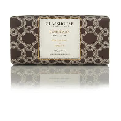 Glasshouse Bordeaux Nourishing Body Bar - Vanilla Noir  by Glasshouse Fragrances
