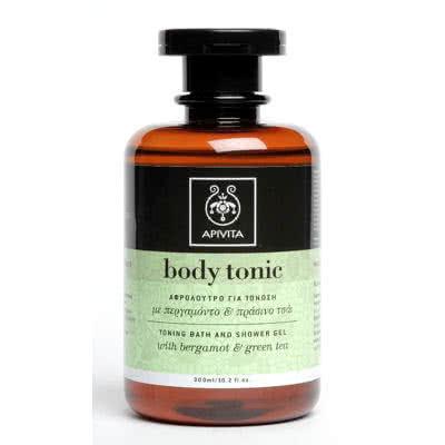 APIVITA Body Tonic Toning Bath and Shower Gel - Green Tea & Bergamot
