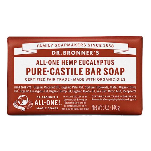 Dr. Bronner Castile Bar Soap - Eucalyptus