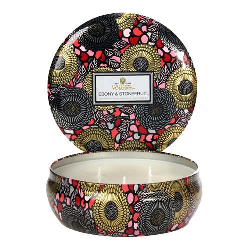 Voluspa Ebony & Stonefruit 3 Wick Candle
