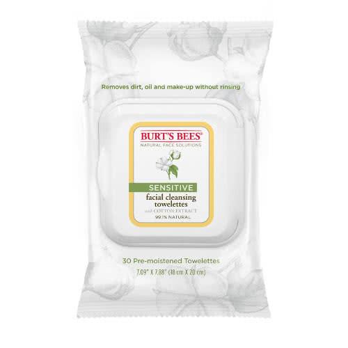 Burt's Bees Sensitive Facial Cleansing Towelettes