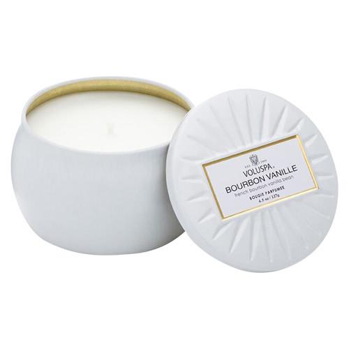 Voluspa Bourbon Vanille Decorative Tin Candle by Voluspa
