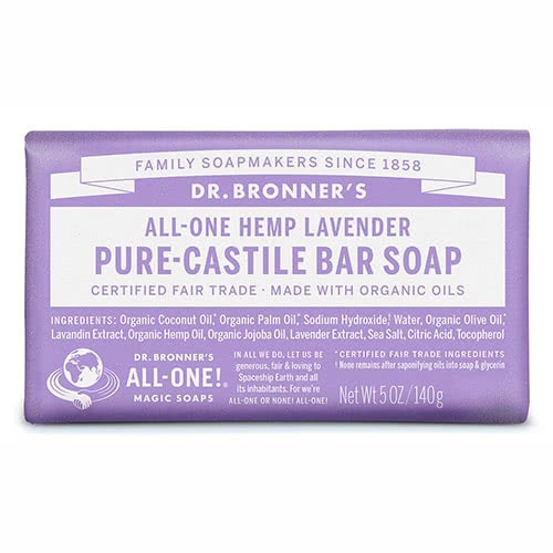 Dr. Bronner Castile Bar Soap - Lavender by Dr. Bronner's