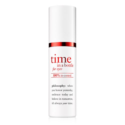 philosophy time in a bottle 100% in-control resist renew repair eye serum by philosophy