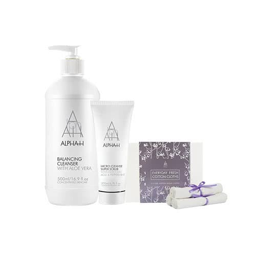 Alpha-H Adore Beauty Exclusive Cleanser Scrub Duo by Alpha-H