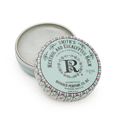 Smith's Rosebud Salve - Menthol Eucalyptus Lip Balm - Tin