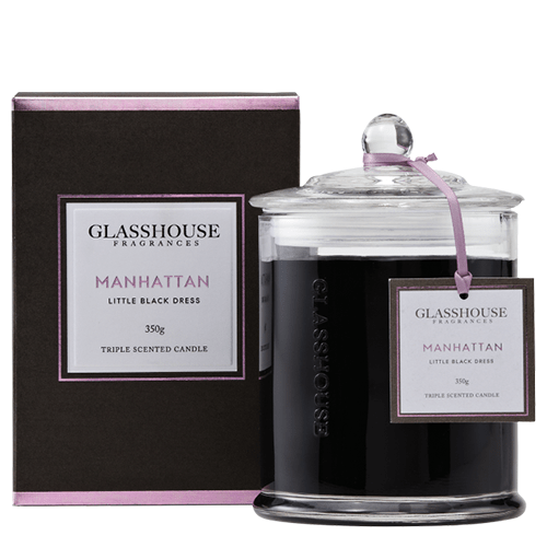 Glasshouse Manhattan Candle - Little Black Dress 350g by Glasshouse Fragrances