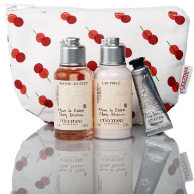 L'Occitane Gift With Purchase: Precious Cherry Blossom Travel Gift Set