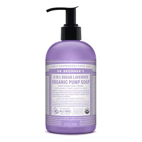 Dr. Bronner 4-in-1 Sugar Lavender Organic Pump Soap by Dr Bronner-s