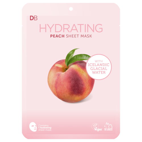 Designer Brands Hydrating Peach Sheet Mask with Icelandic Water by Designer Brands