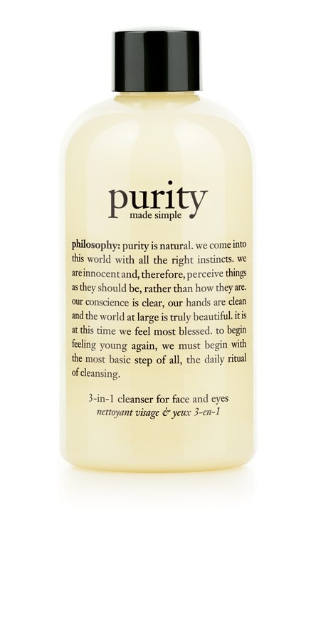 philosophy purity made simple 3-in-1 cleanser for face and eyes 240ml - 240ml