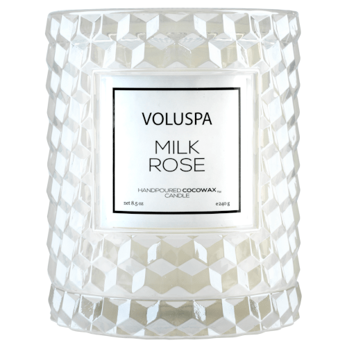 Voluspa Milk Rose Icon Cloche Candle by Voluspa