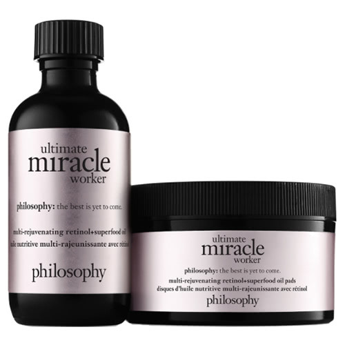 philosophy ultimate miracle worker multi-rejuvenating pure-retinol oil pads by philosophy