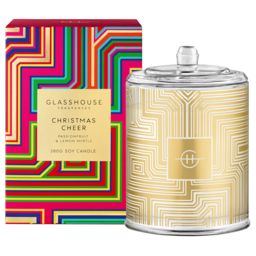 Glasshouse Christmas Cheer 380g Triple Scented Candle