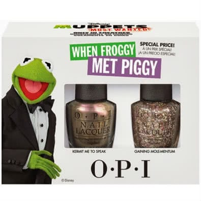 OPI Muppets Most Wanted: Kermit Duo Pack - When Froggy Met Piggy