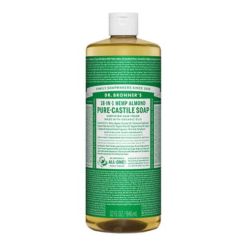 Dr. Bronner Castile Liquid Soap - Almond 946ml by Dr. Bronner's