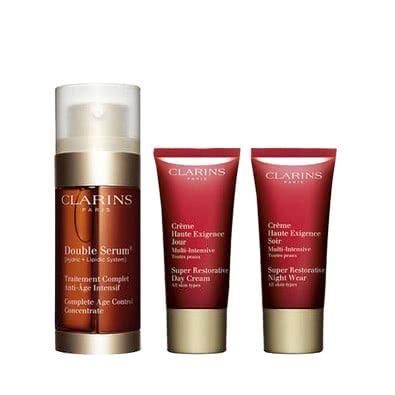 Clarins Double Serum 30mL + Super Restorative Gift Set