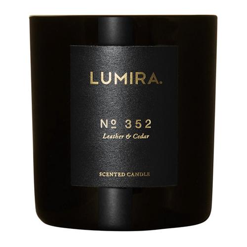 Lumira Glass Candle –  No352 Leather & Cedar by Lumira