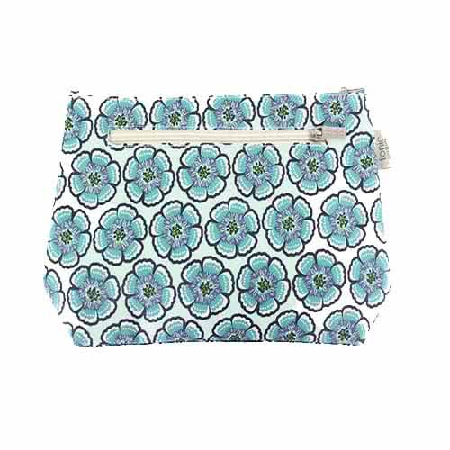 Tonic Small Cosmetic Bag - Flora Sea Green by Tonic