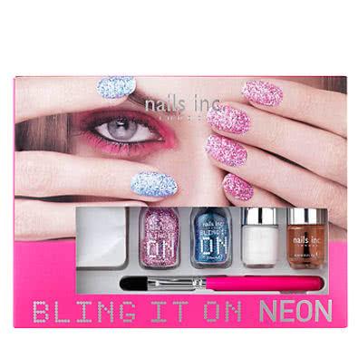 nails inc. BLING IT ON NEON Nail Art Kit