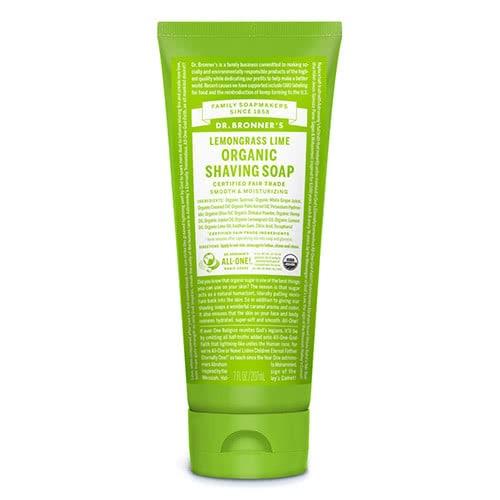 Dr. Bronner Organic Shaving Soap - Lemongrass Lime