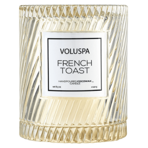 Voluspa French Toast Icon Candle with Cloche- 55 hour burn by Voluspa