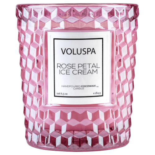 Voluspa Rose Petal Ice Cream Classic Boxed Candle by Voluspa