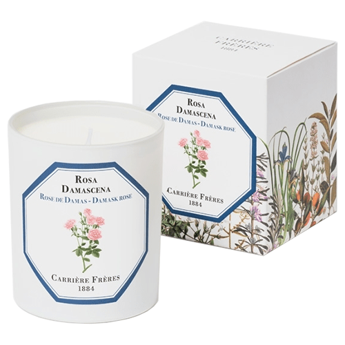 Carrière Frères Damask Rose Candle 185g