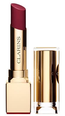 Clarins Rouge Eclat Satin Finish Age-Defying Lipstick-07 Red Wine