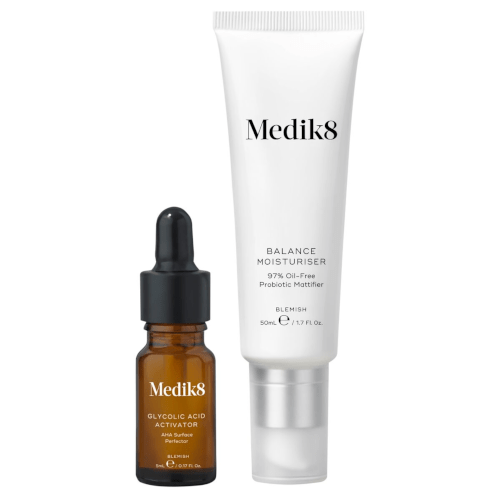 Medik8 Balance Moisturiser 50ml with Glycolic Acid Activator 5ml