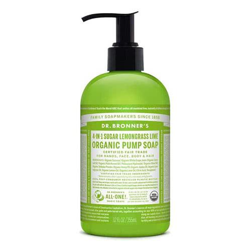 Dr. Bronner 4-in-1 Sugar Lemongrass Lime Organic Pump Soap by Dr. Bronner's