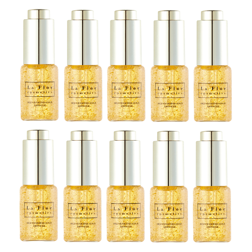 La Flor Rejuvenating Gold Ampoule - set of 10 by La Flor Cosmetics