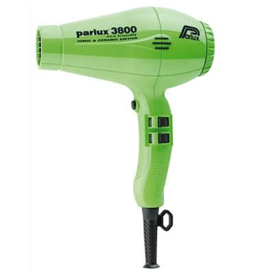 Parlux 3800 Ceramic/Ionic Hairdryer - Green