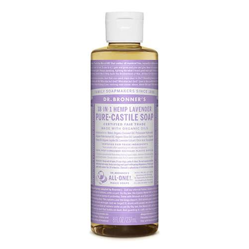 Dr. Bronner Castile Liquid Soap - Lavender 237ml by Dr. Bronner's