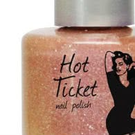 theBalm Hot Ticket Nail Polish Call Me Iridescent - Holographic Pink with Silver Glitter